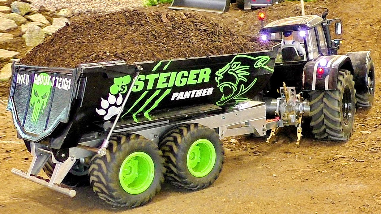 RC FENDT TRACTOR ACTION IN SCALE 1/16 AMAZING RC MODEL MACHINE IN MOTION