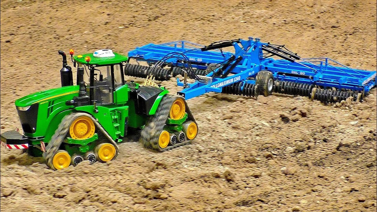 MONSTER RC TRACTOR JOHN DEERE IN ACTION AMAZINGLY DETAILED MODEL MACHINE IN MOTION