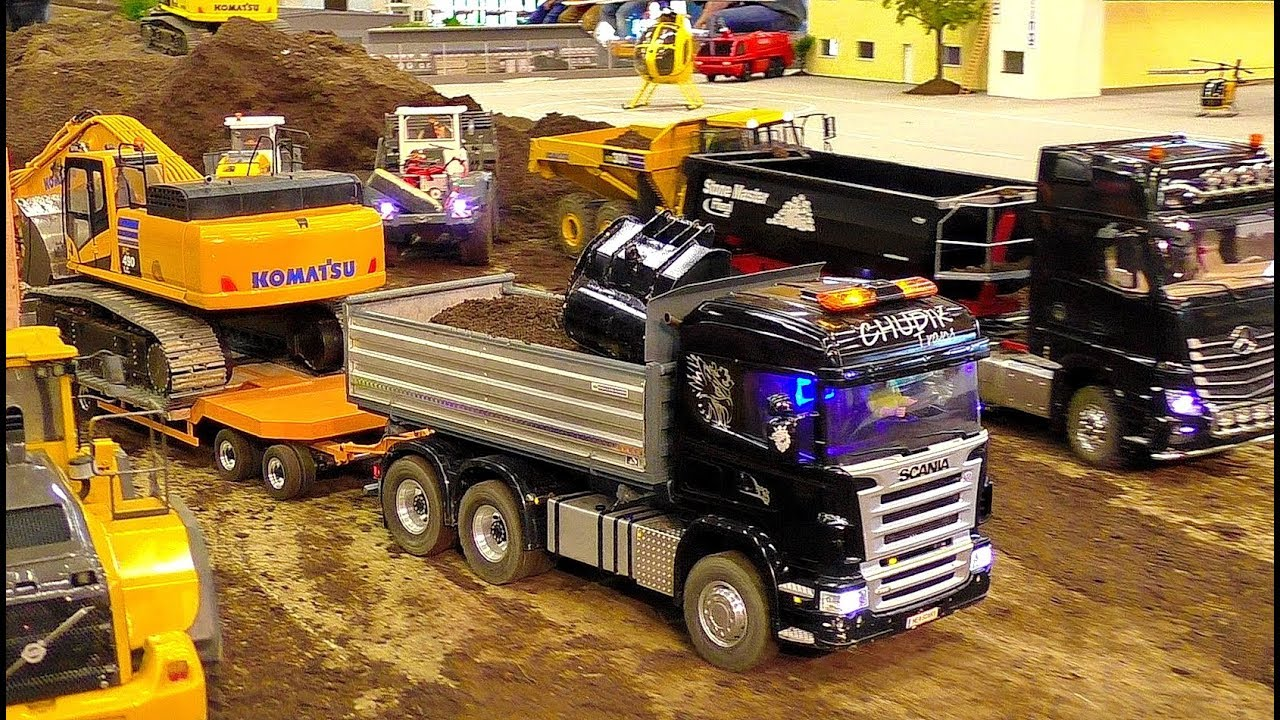 AMAZING RC MACHINES IN SCALE 1:16 WORKING HARD ON THE RC CONSTRUCTION SITE