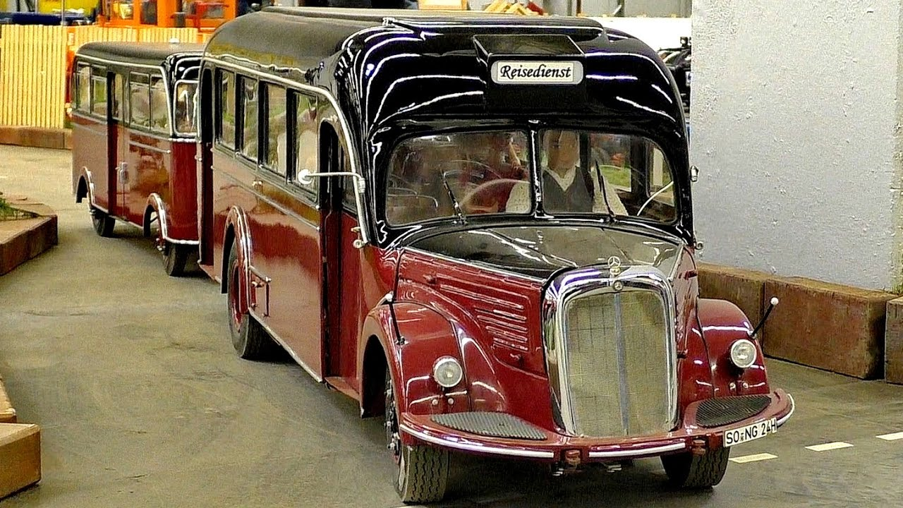 RC OLDTIMER SCALE 1:7,3 MODEL BUS MERCEDES BENZ O-6600-H / Intermodellbau Dortmund 2016