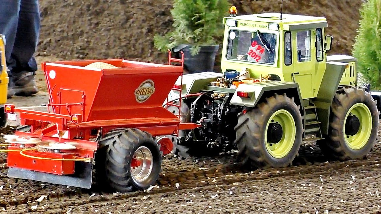 RC XXXL SCALE 1:8 MODEL MB TRAC 1600 TURBO AT WORK / Faszination Modellbau 2016
