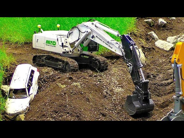 FANTASTIC RC EARTHWORKS ON THE RC CONSTRUCTION SITE WITH AMAZING MODEL MACHINES