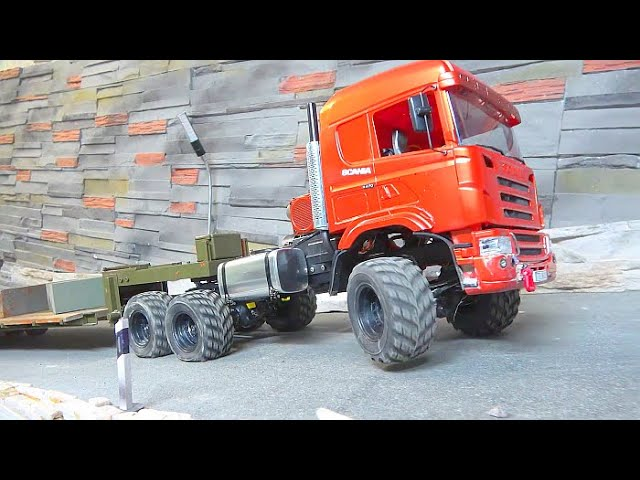 RC EXCAVATOR R970 SME WITH SCRAP METAL MAGNET! SUPER STRONG SCANIA 6X6 AGRAR! 30KG STEEL