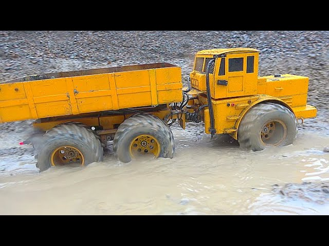 HEAVY RC RAIN DAY! VOLVO L250GS  WORK IN MUD! KIROVETS K700 AT THE BIGGEST RC CONSTRUCTION SITE