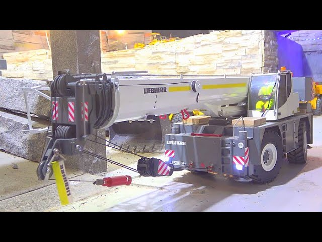 LIEBHERR LRT 1100-2.1 TUTTE LE GRU DEL TERRENO! SPECIAL SELF MADE RC CRANE TRUCK! TRANSPORTATION RC CRANE