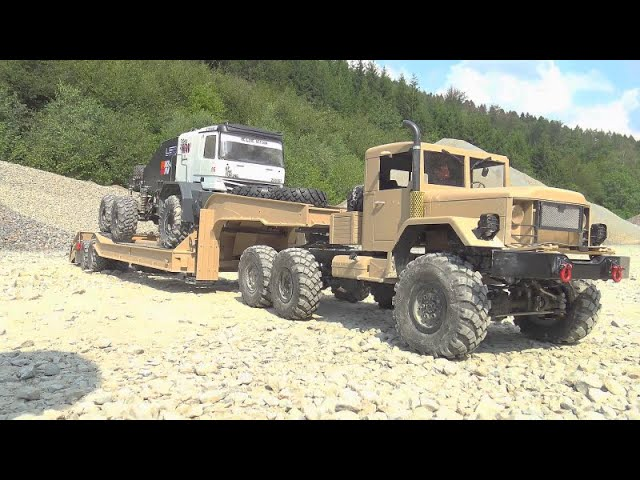 BC8 8X8 IN ACTION! HEAVY RC VEHICLES WORK EXTREMELY AT THE BIGGEST CONSTRCTION SITE! COOL RC TOYS