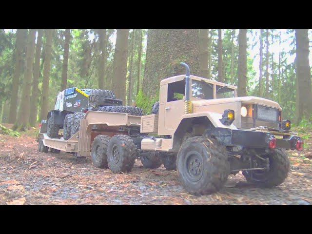 RC STUCK IN ICE WATER! 乌拉尔 4320 RESCUE THE TAMIYA GLOBE LINER! RC TIGER! HEAVY HC6 TRUCK STUCK