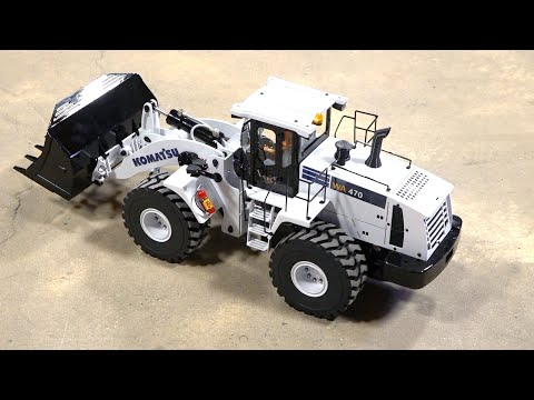FIRST UNBOXING of 2020 – WHITE FRONT LOADER HYDRAULIC FULLY METAL w/ LIGHTS & SOUND | RC ADVENTURES