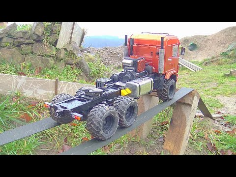 RC SCANIA 6×6 IN ACTIO!HEAVY TRIAL PACURE! SELF MADE RC TRUCK