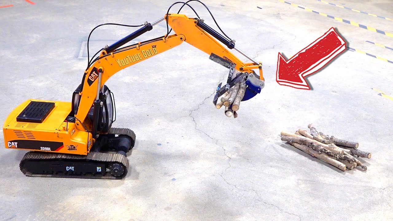 I FAB a MECHANICAL LOG GRABBER for the RiPPER on my 4200XL EARTH DIGGER EXCAVATOR | RC ADVENTURES