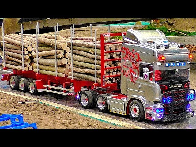STUNNING !!! RC SCALE 1:16 MODEL TRUCKS IN MOTION ON A FANTASTIC PARCOUR