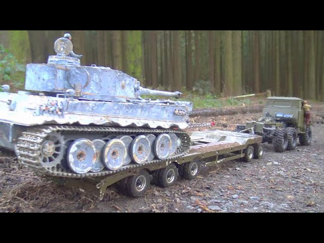 URAL 4320 RC! GERMAN TIGER 1 RESCUE1 URAL 4320 IN MUD1 NEW RC VEHICLES  2020