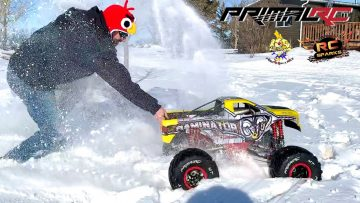 """MAN in ANGRY BIRDS HAT DRIVES """"ToY"""" 49cc GAS POWERED MONSTER TRUCK – PRIMAL MT 1:5 