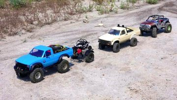 RC ПРИКЛЮЧЕНИЯ – Three 4×4 Trucks Explore an Ancient Wasteland