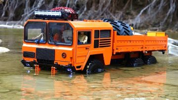 RC AVONTUREN – 3 Axles Deep – Orange Beast 6×6 on Patrol at Autumn Creek