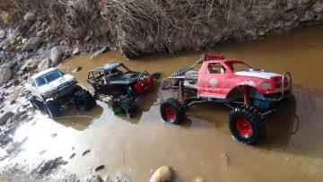 RC AVONTUREN – 3 Trail Trucks on a Fun Adventure – Group Trail Run – Schaal 4×4 Trucks