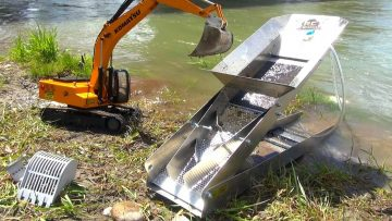 RC AVONTUREN – GOLD Dredge & Sluice Plant with an Earth Digger 4200XL Excavator
