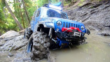 RC ПРИКЛЮЧЕНИЯ – Stuck in Mud – Swamp Bogging in a 4×4 Jeep Wrangler Rubicon Radio Controlled Truck