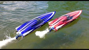 AVENTURES RC – Duelling Traxxas Spartan Speed Boats and Two DJi Phantoms taking Aerial Footage