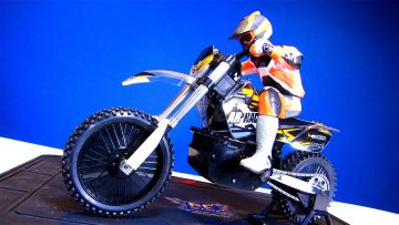 RC AVANTURE – Unboxing a 1/4 scale ARX RTR Cross Off Road Electric Motorcycle with e-Gyro