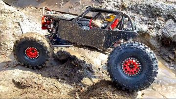 BLACK  WiDOW MUDS w/ NEW BOOTS – TSL BOGGERS – SUPER SWAMPER TiRES on RED BEAD LOCKS | AVENTURAS RC