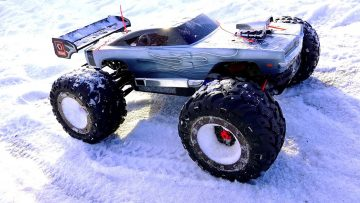 RC ADVENTURES – WiNTER BASHFEST – Dodge Charger E-Revo & Friends at BLACKFOOT RC!