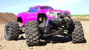AVENTURES RC – PURPLE TRAXXAS XMAXX gets HiGH! Bashing a New PiTDAWG HYDRO BODY