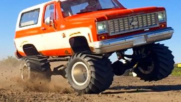 BOOSTED CHEVY K5 Blazer 4×4 RC lastbil – 6s Lipo Pulls JUDGE | RC EVENTYR