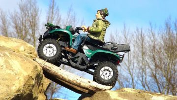 RC EVENTYR  – Mini Suzuki Vinson 500 ATV 4×4 on the trials course – 1/24 Scale Losi Micro Trekker