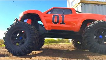 RC ADVENTURES –  SLED PULL COMPETiTiON – XMAXX vs SUMMiT vs THE JUDGE
