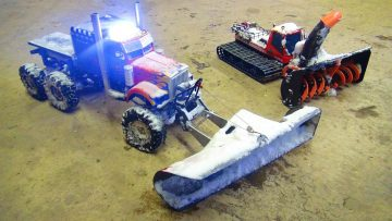 RC 冒险 – SNOW MACHiNES DOiNG WORK – OPTiMUS & BLiZZARD – Plow & Snow Blower