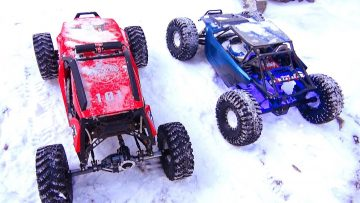 AVENTURAS RC – Crazy Canadians Extreme Winter Trail Trucking in Kananaskis – RC Trucks in Snow!