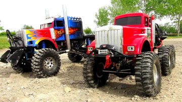 WHO CAN PULL MORE?! OPTiMUS vs BiG RED – iNSANE 6X6 RC TRUCKS Battle THE JUDGE | RC ADVENTURES