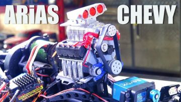 AVENTURAS RC – 960hp+ ARiAS / CHEVY BiG BLOCK V8 ENGiNE UPGRADE – ULTRA 4 Caminhão – AXiAL BOMBER
