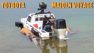 RC EVENTYR – TOYBOTA – BBC TOP GEAR TRUCK BOAT TRiBUTE – Toyota LC70 UTE w/ Oversized Outboard