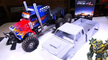 """RC ADVENTURES – """"BUMBLEBEE"""" AS A TRUCK!? TRANSFORMERS TRiBUTE BUiLD – Unboxing Cross RC PG4L"""