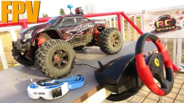 RC 冒险 – FPV TRAXXAS XMAXX & STEERiNG WHEEL RACE MOD for RC!