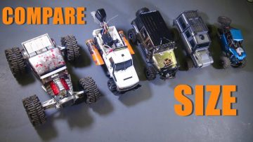 RC ПРИКЛЮЧЕНИЯ – 15 Size Comparisons – 1/8th Scale Cragsman Jeep JK from Traction Hobby