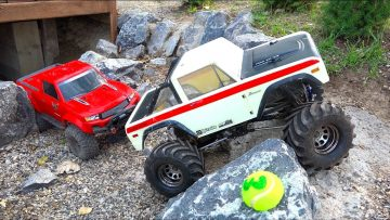 TWO KiDS DRiVE RC TRUCKS at a HUGE TRAiL PARK | AVENTURAS RC