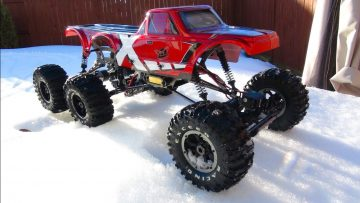 RC 冒险 – SLUSHY Winter Play Day – Black Widow 4×4 & Exceed RC 6×6