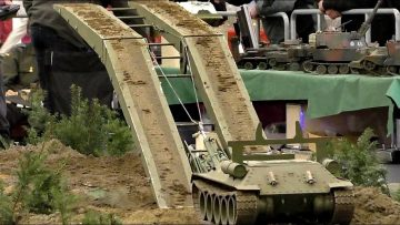 BIG RC MODEL TANK COLLECTION SCALE 1:8 MILITARY VEHICLES IN ACTION / Intermodellbau Dortmund 2016