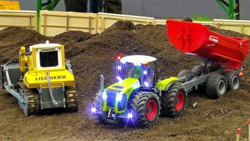 RC CONSTRUCTION SITE WITH AMAZING MODEL MACHINES IN MOTION AT WORK