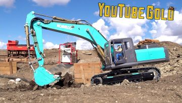 Oro de YouTube 2020 – KOBELCO ON RETAiNER, PREPPiNG the MINE-SiTE for GOLD – S3 Ep. 2 | AVENTURAS RC