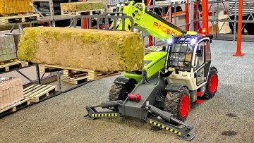 RC TELEHANDLER TELESCOPIC LOADER IN SCALE 1:14 FASCINATING FUNKTIONALITY MODEL MACHINE IN MOTION