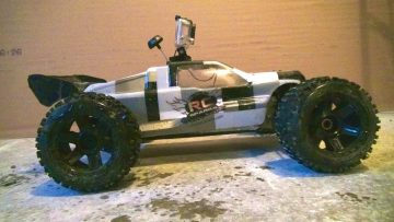 "PRZYGODY RC – CowRC, Setup FPV with a GOPro 3 Camera, & Losi 8T ""First Person View"" Akcja"