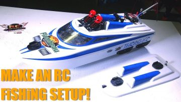RC EVENTYR – MAKE an RC FiSHiNG SETUP! Også – FLOATiNG RAMP DIY – THRASHER JET BOAT