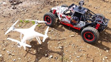 AVENTURES RC – LOSi DBXL 1/5 scale 4×4 Buggy & DJi PHANTOM 4 Quad Rotor Flying Camera
