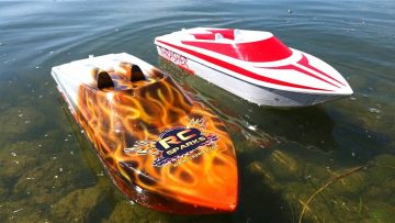 AVENTURAS RC – NEW CAPTAiNS! Thrasher Jet Boats on 5S Lipo – LET THEM TRY!