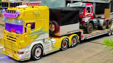 WOW !!! STUNNING !!! RC SCALE 1:16 MODEL TRUCKS IN MOTION AMAZING RC TRUCKS ON A FANTASTIC PARCOUR
