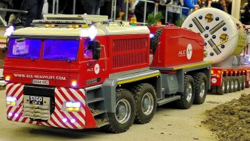 STUNNING RC SCALE 1:14 MODEL TRUCKS IN MOTION FASCINATING MODELS ON A FANTASTIC PARCOUR